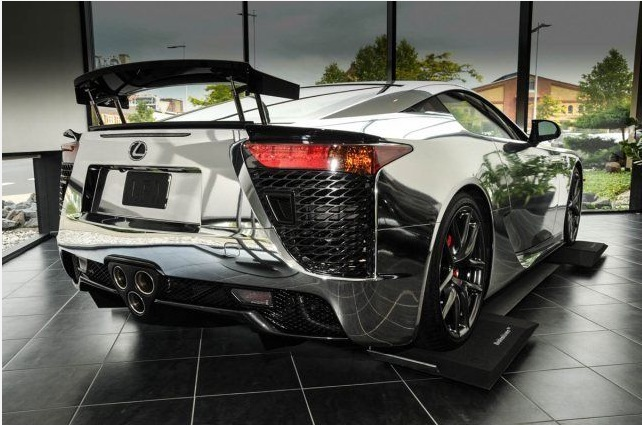 chrome wrapped lexus lfa is for sale autoevolution. Black Bedroom Furniture Sets. Home Design Ideas
