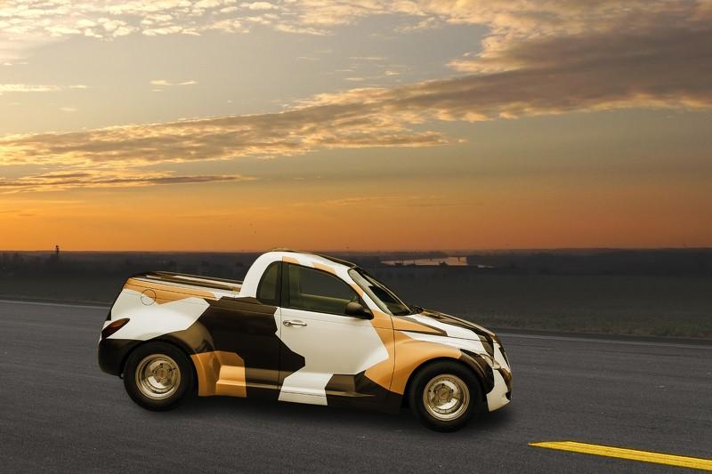Chrysler pt cruiser widebody pickup truck by carbon motors of bulgaria