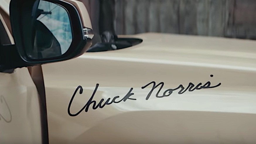 Chuck Norris Signs Toyota Tacoma Into Surfing And Tree
