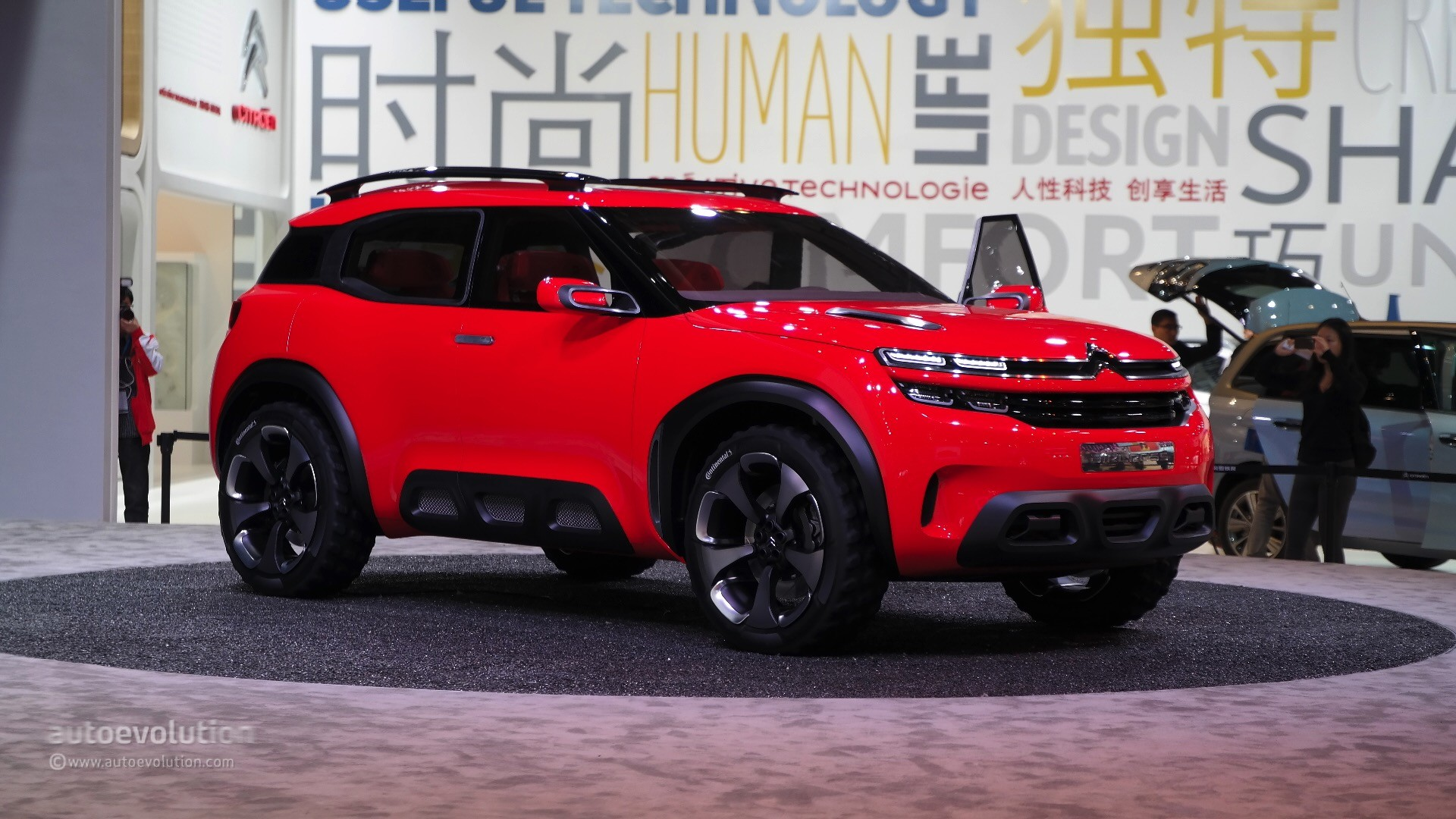 citroen aircross concept makes a first appearance at the. Black Bedroom Furniture Sets. Home Design Ideas