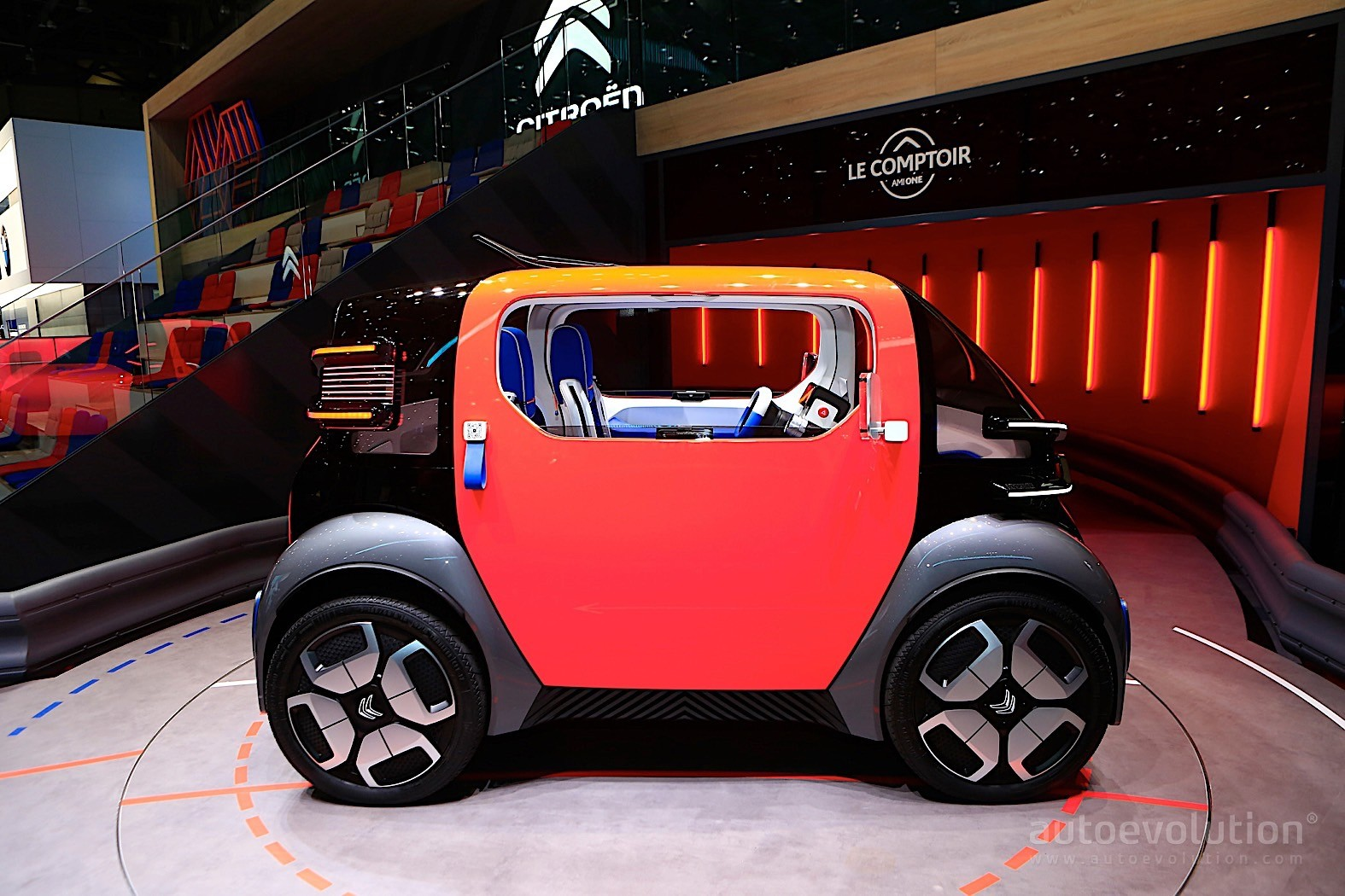 100 Kph To Mph >> Citroen Ami One Disrupts Geneva with Tiny Dimensions and ...