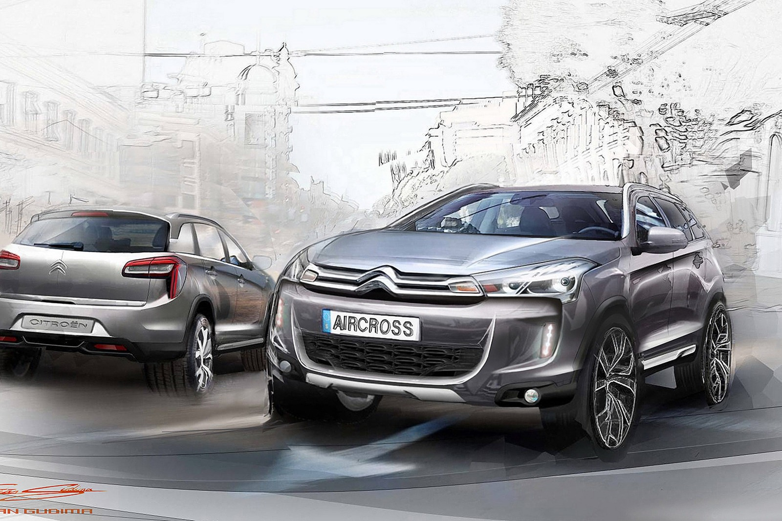 citroen c4 aircross new photos ahead of geneva debut. Black Bedroom Furniture Sets. Home Design Ideas