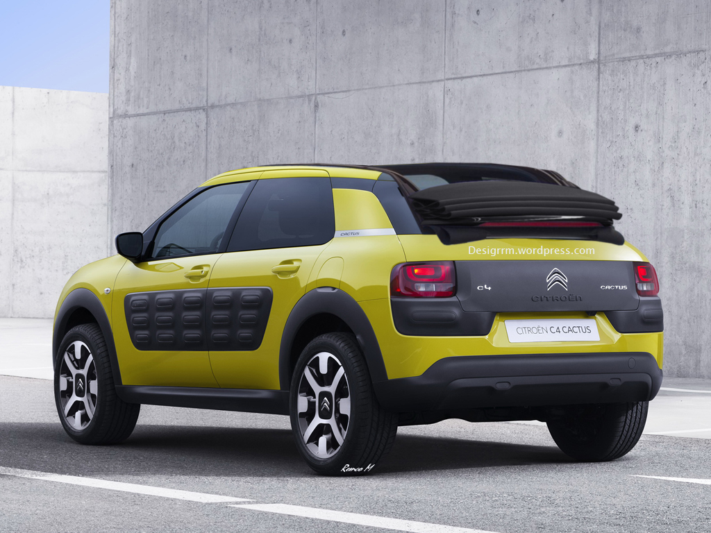 citroen c4 cactus cabrio rendering autoevolution. Black Bedroom Furniture Sets. Home Design Ideas