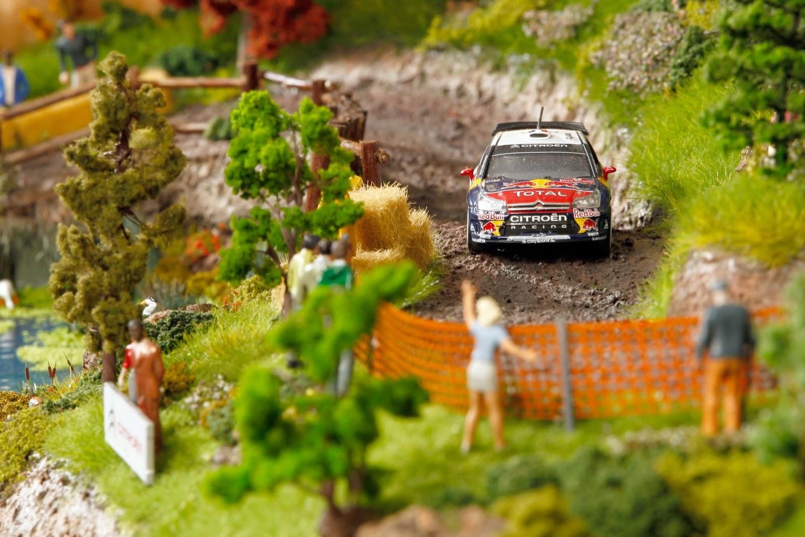 citroen celebrates rally success with impressive diorama