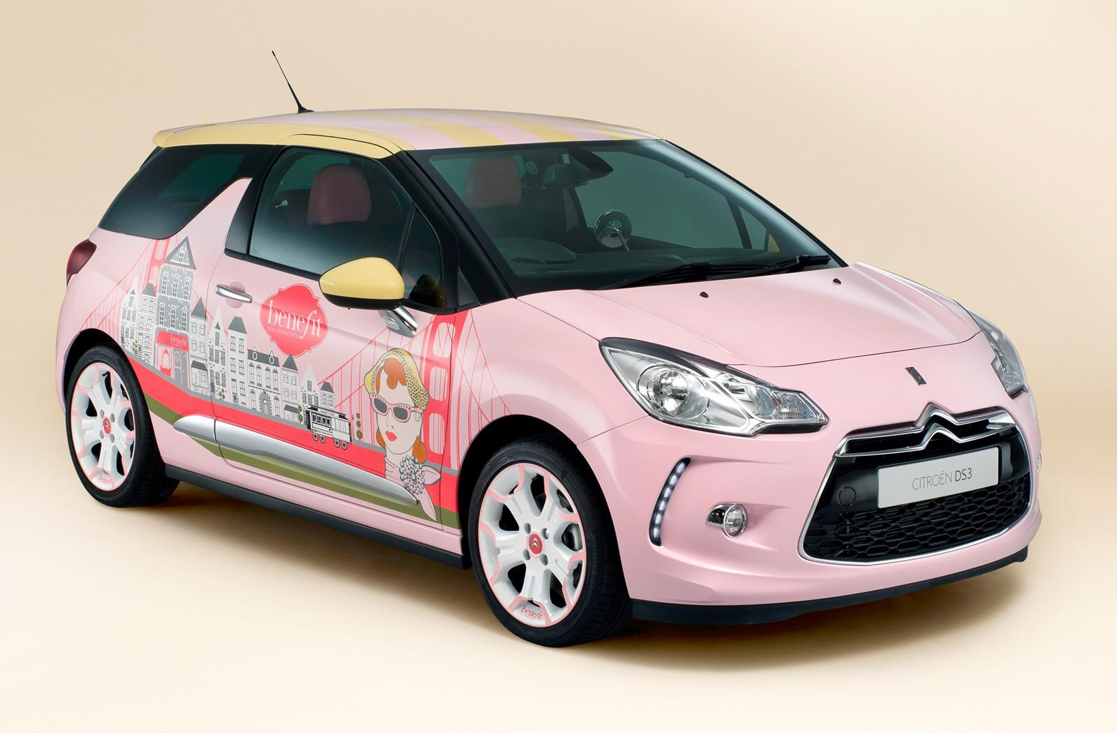 citroen creates girly ds3 with cosmetics company autoevolution. Black Bedroom Furniture Sets. Home Design Ideas