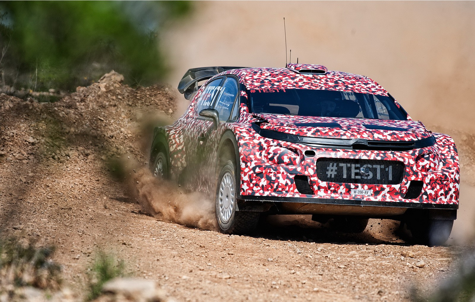 The 2017 FIA World Rally Championship Citroen C3 has undergone initial testing, this will be the ALL NEW C3.
