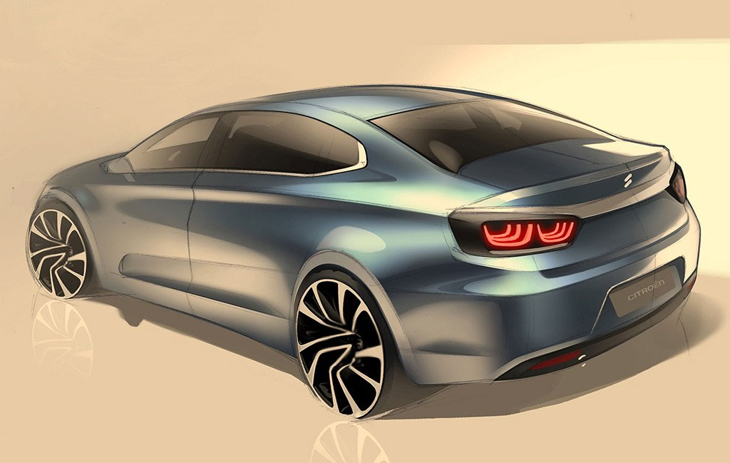 citroen shows cquatre sketches in china could preview c4