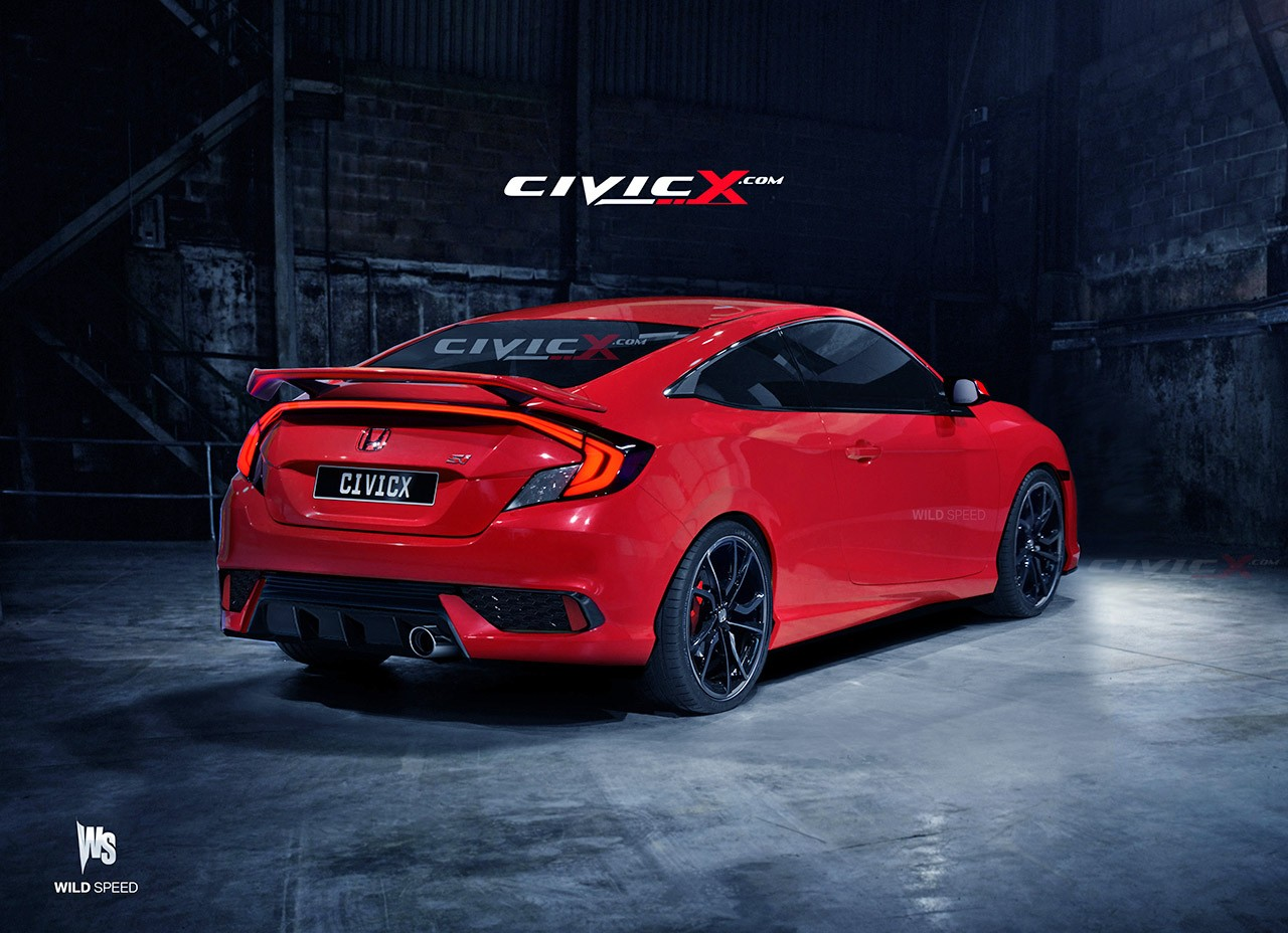 2017 Honda Civic Si Coupe Accurately Rendered Based On Spy Images