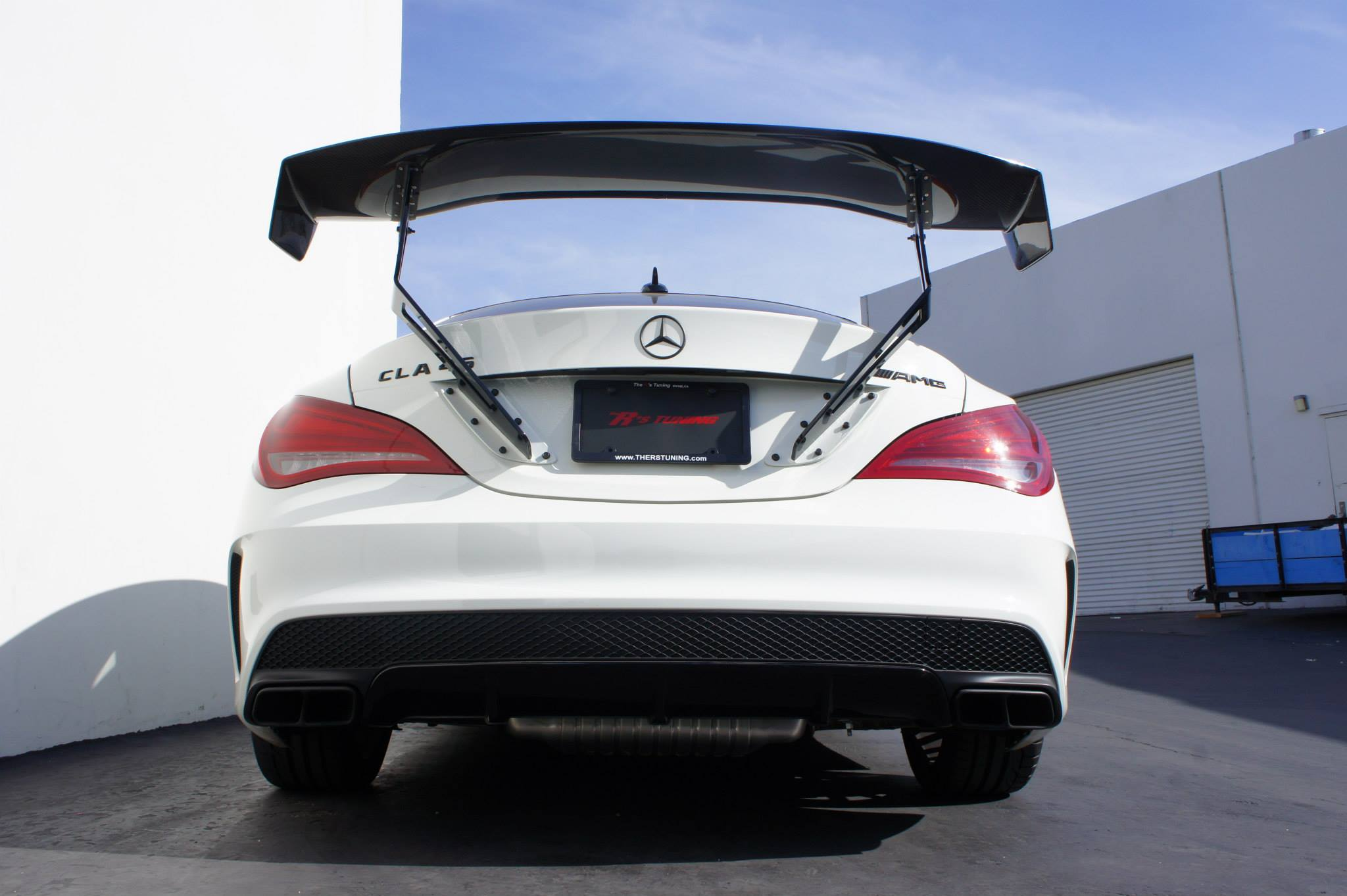 Cla 45 Amg Gets A Voltex Wing By The R S Tuning