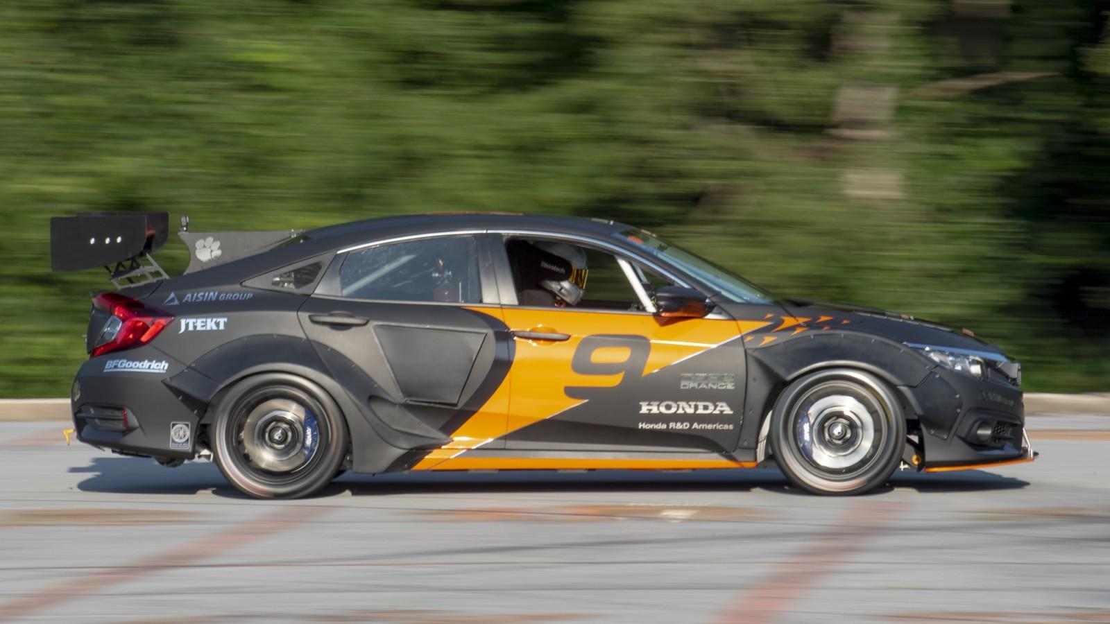 Students turn honda civic into 600 horsepower hybrid for Honda civic race car