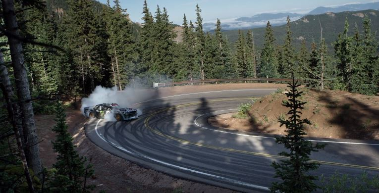 Ken Block takes on the Pikes Peak hill climb in 'Climbkhana' video