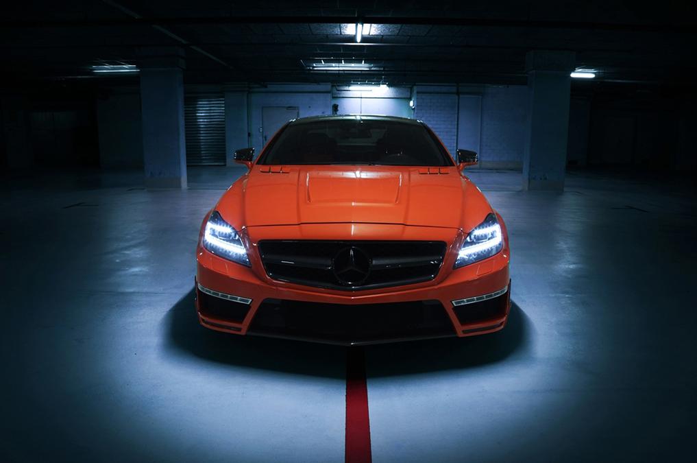Cls 63 amg stealth by gsc spotted in underground garage for Garage auto orange