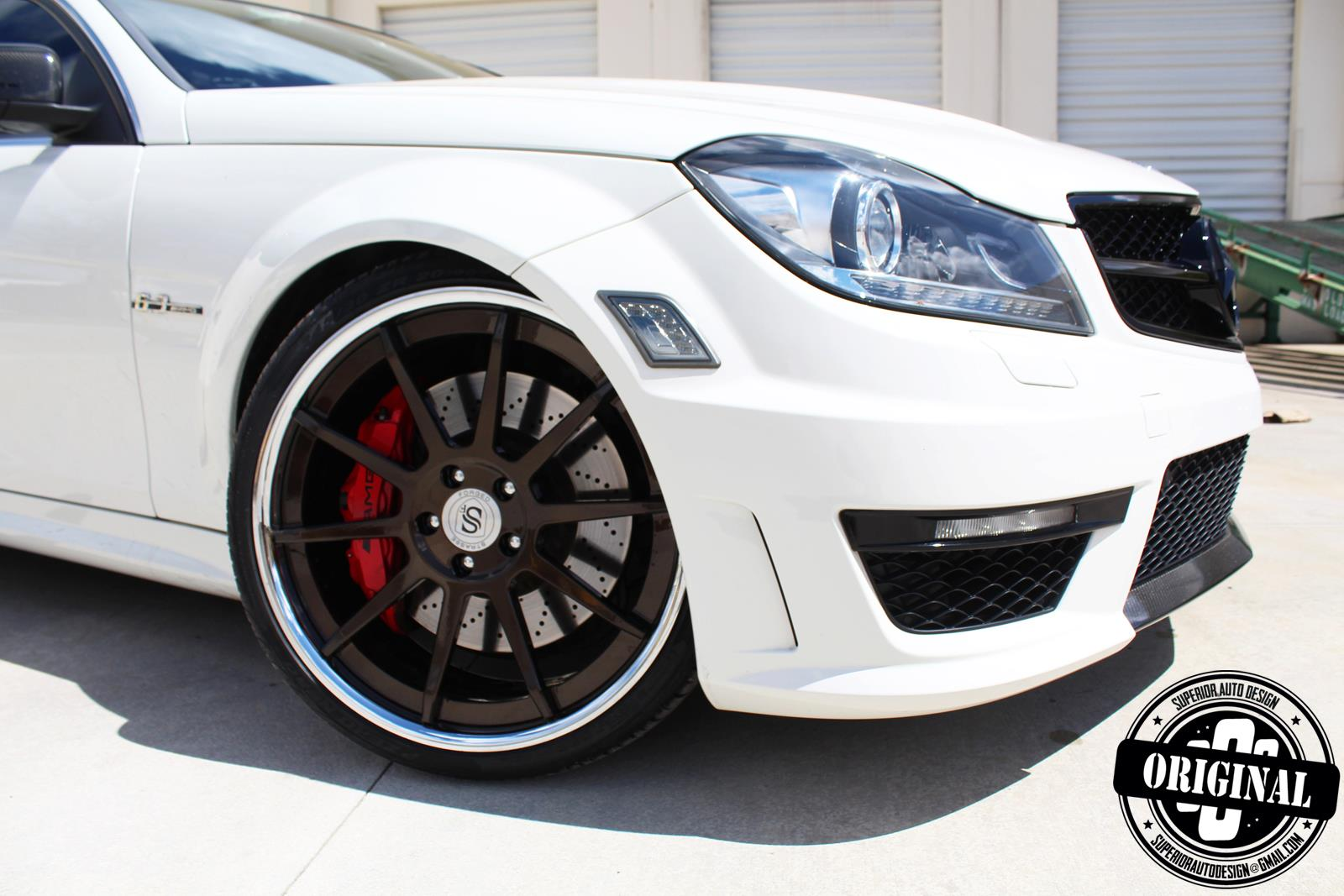 Superior Auto Parts >> Cocaine-white C63 AMG Coupe with Forged Strasse Wheels - autoevolution