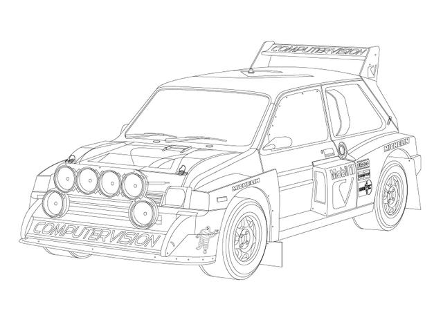 coloring book of race cars for the little motorist