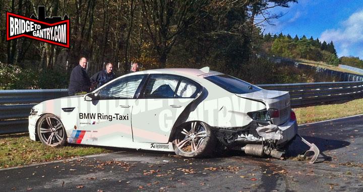 Bmw M Ring Taxi Crashes At Nurburgring