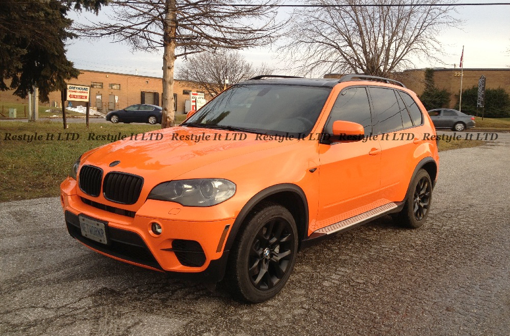 Complete Make Over Black X5 Turns Fire Orange At