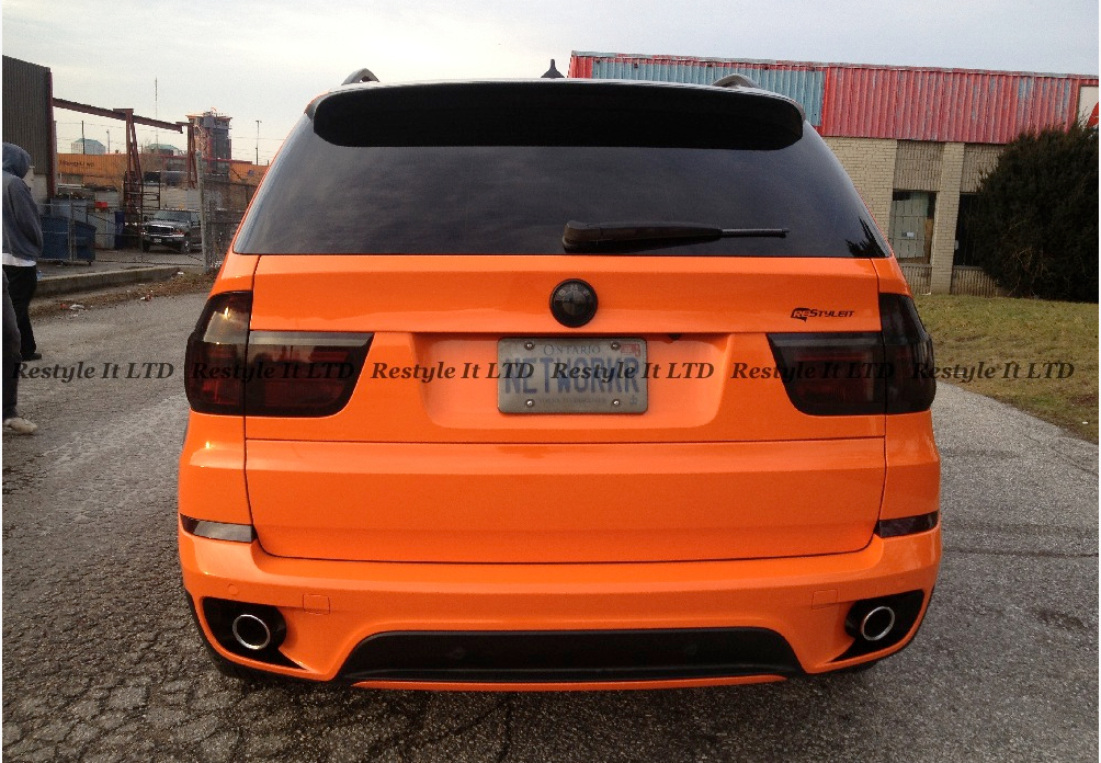 Complete Make Over Black X5 Turns Fire Orange At Restyleit Autoevolution