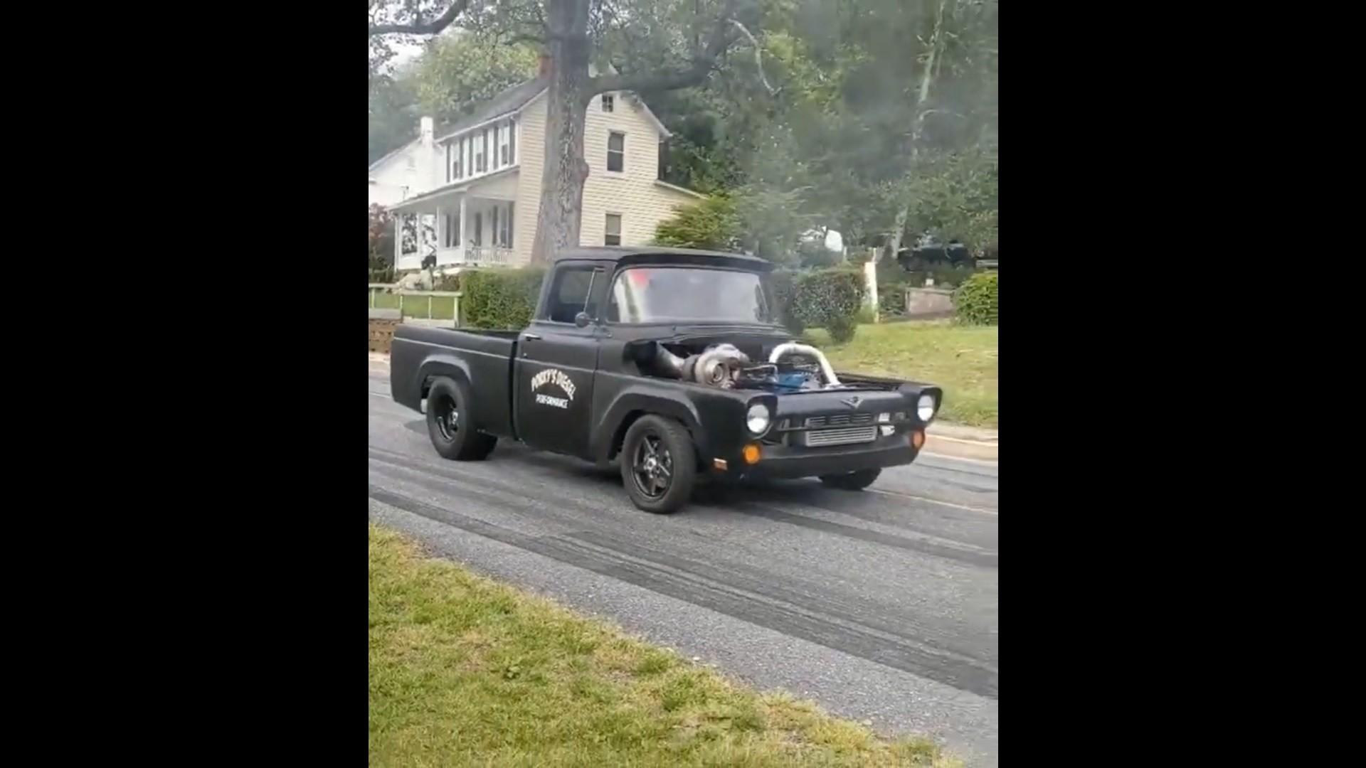 compound cummins 1957 12v pickup turbo truck ford means autoevolution