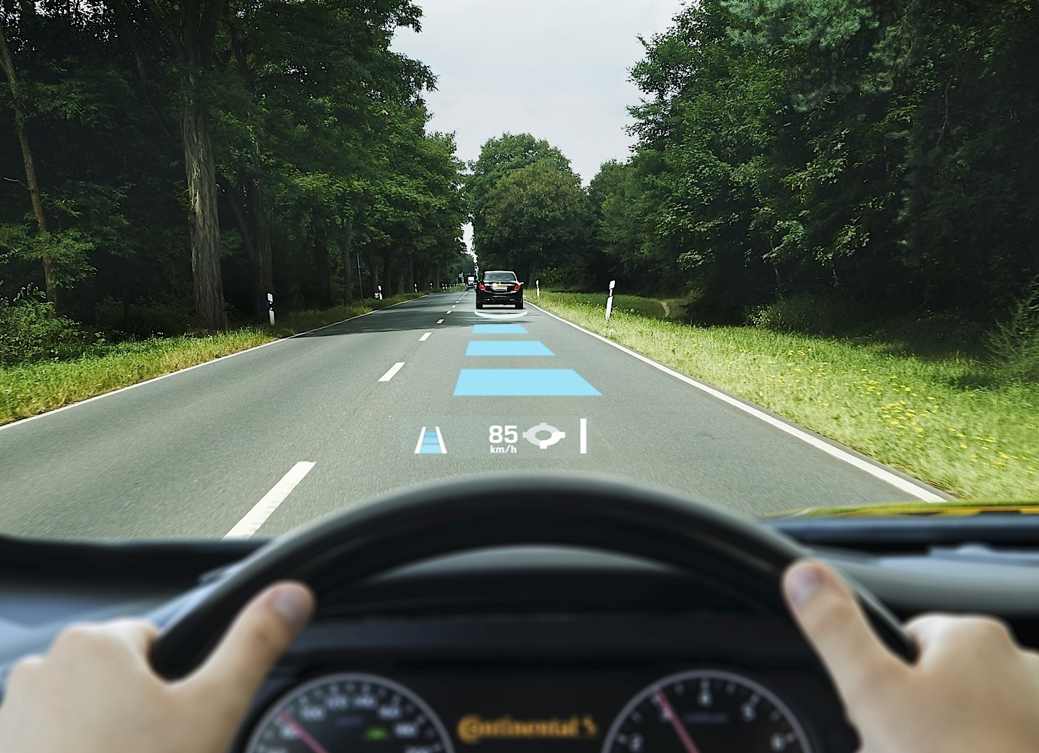 continental shows its augmented reality head up display. Black Bedroom Furniture Sets. Home Design Ideas