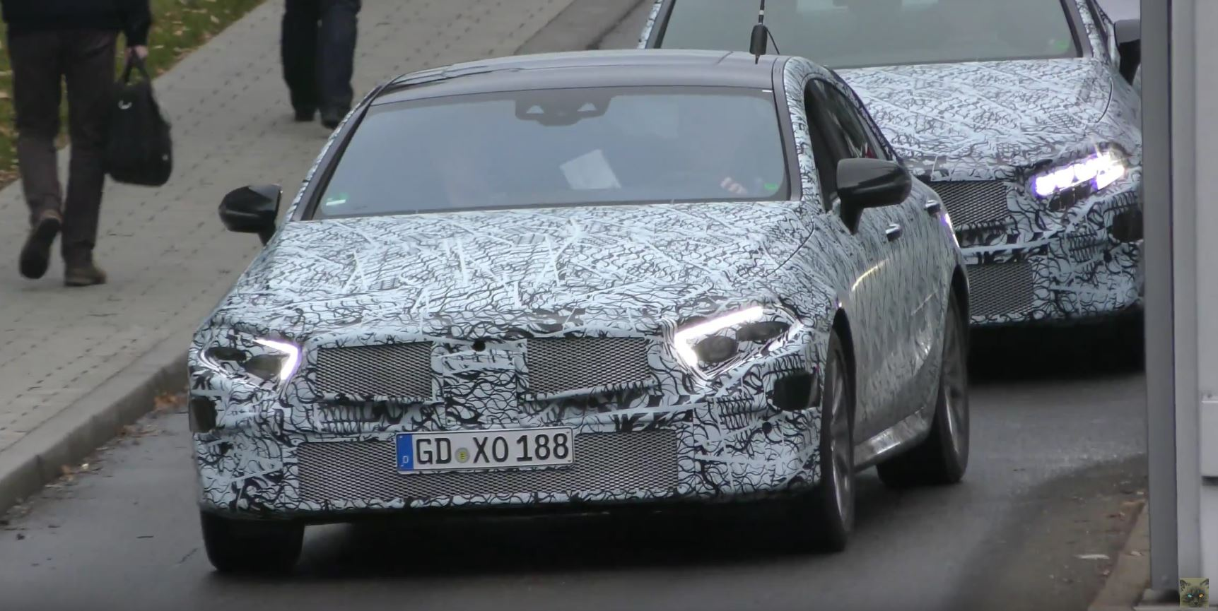 Convoy of 2019 mercedes cle four door coupes spotted in for Mercedes benz cle