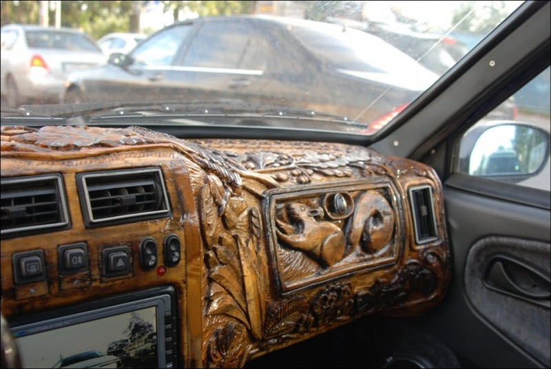 Cool Car Interior Made From Wood - autoevolution