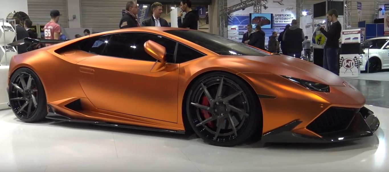 Essen Motor Show 2017 >> Copper-Wrapped Lamborghini Huracan Gets Gaping Carbon Bodykit in Essen - autoevolution