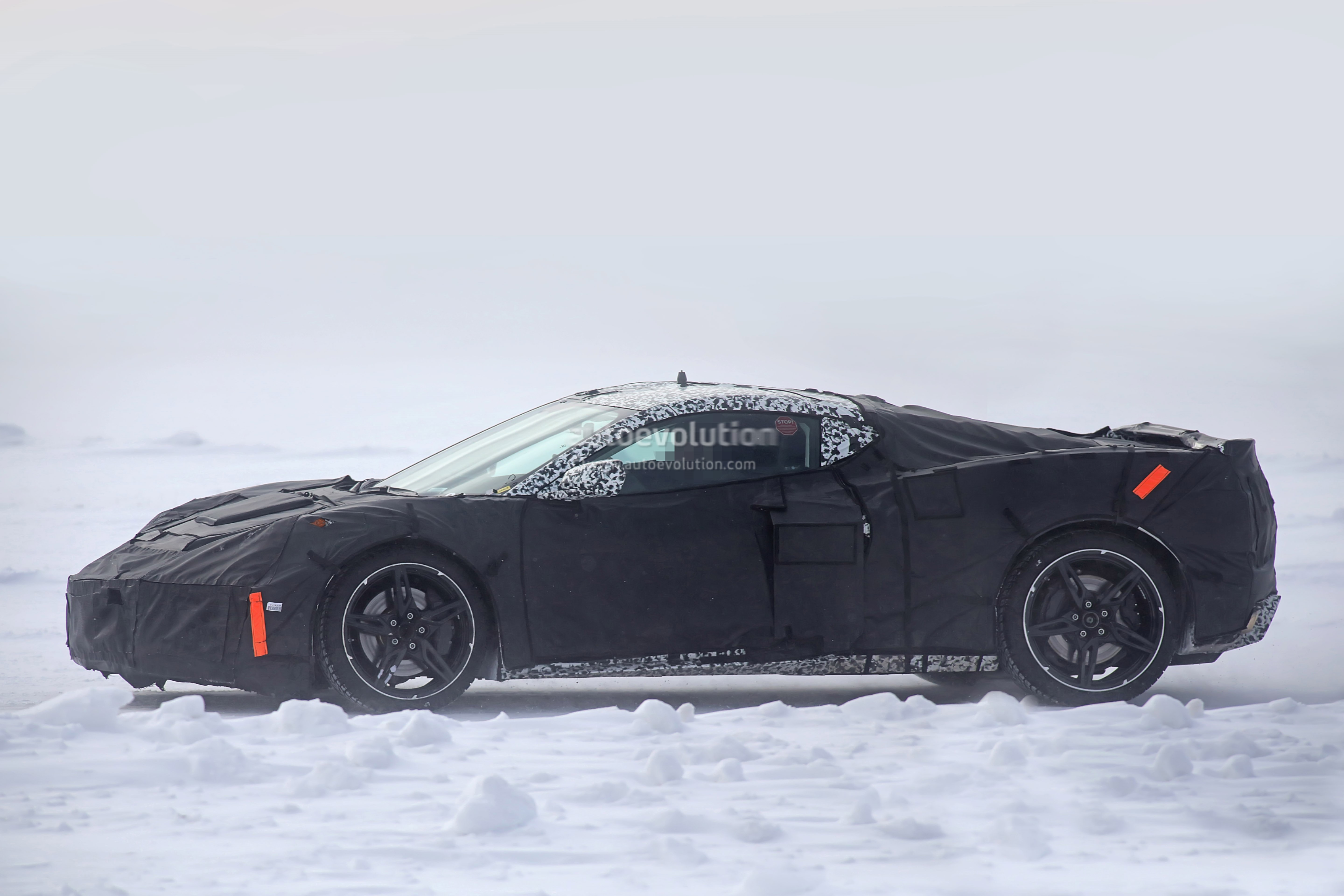 Mid Engine Corvette Spied During Winter Testing