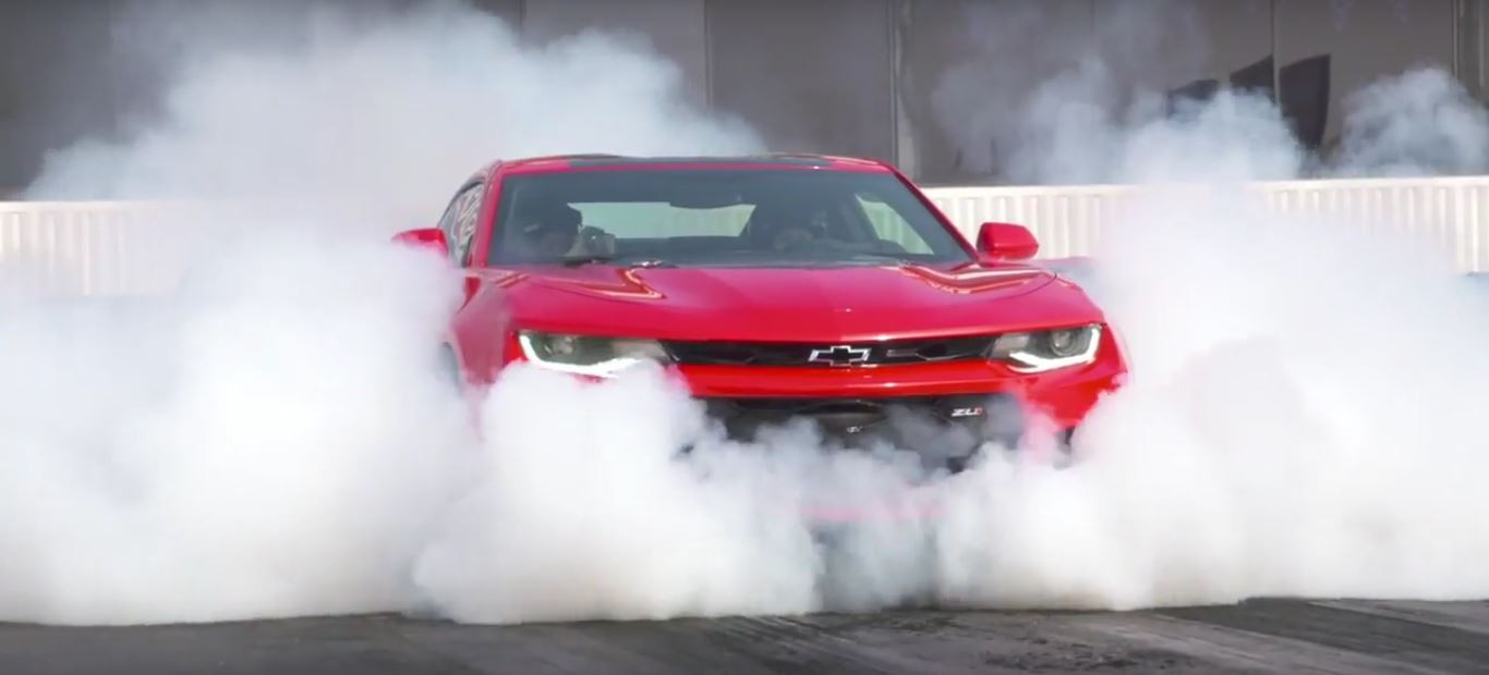 Courtney Force NHRA Reporter Turn Camaro ZL Burnout Into - Cool cars doing burnouts