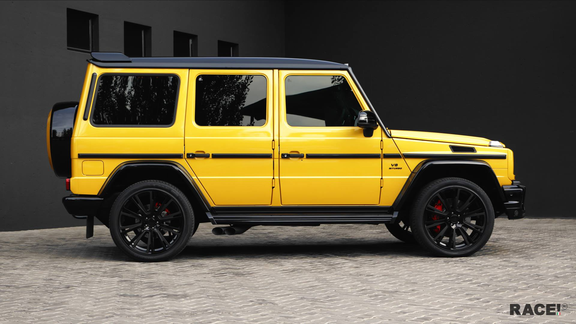 Crazy Color Yellow G63 Amg With Brabus Parts By Race