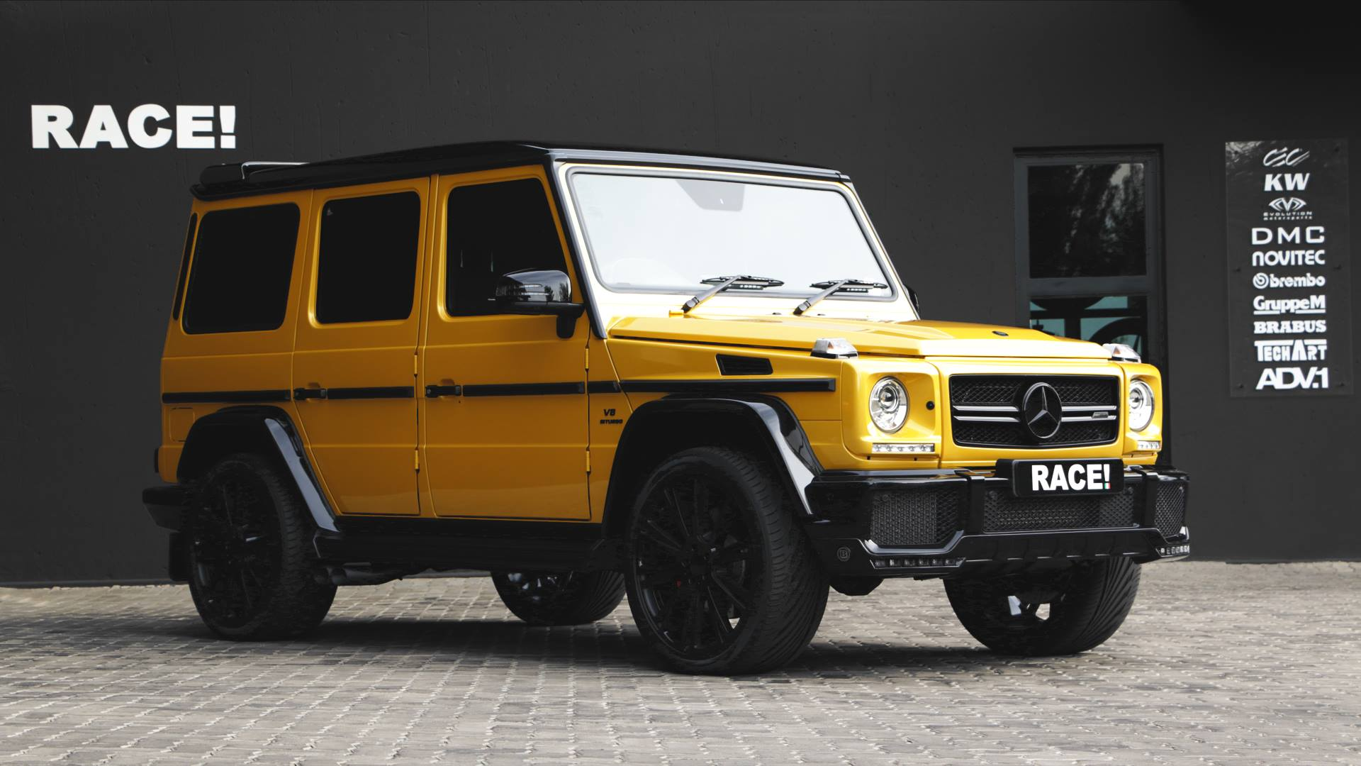 Crazy Color Yellow G63 AMG with Brabus Parts by RACE ...