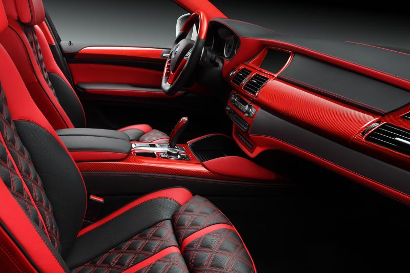 crazy interior for bmw x6 from topcar autoevolution. Black Bedroom Furniture Sets. Home Design Ideas
