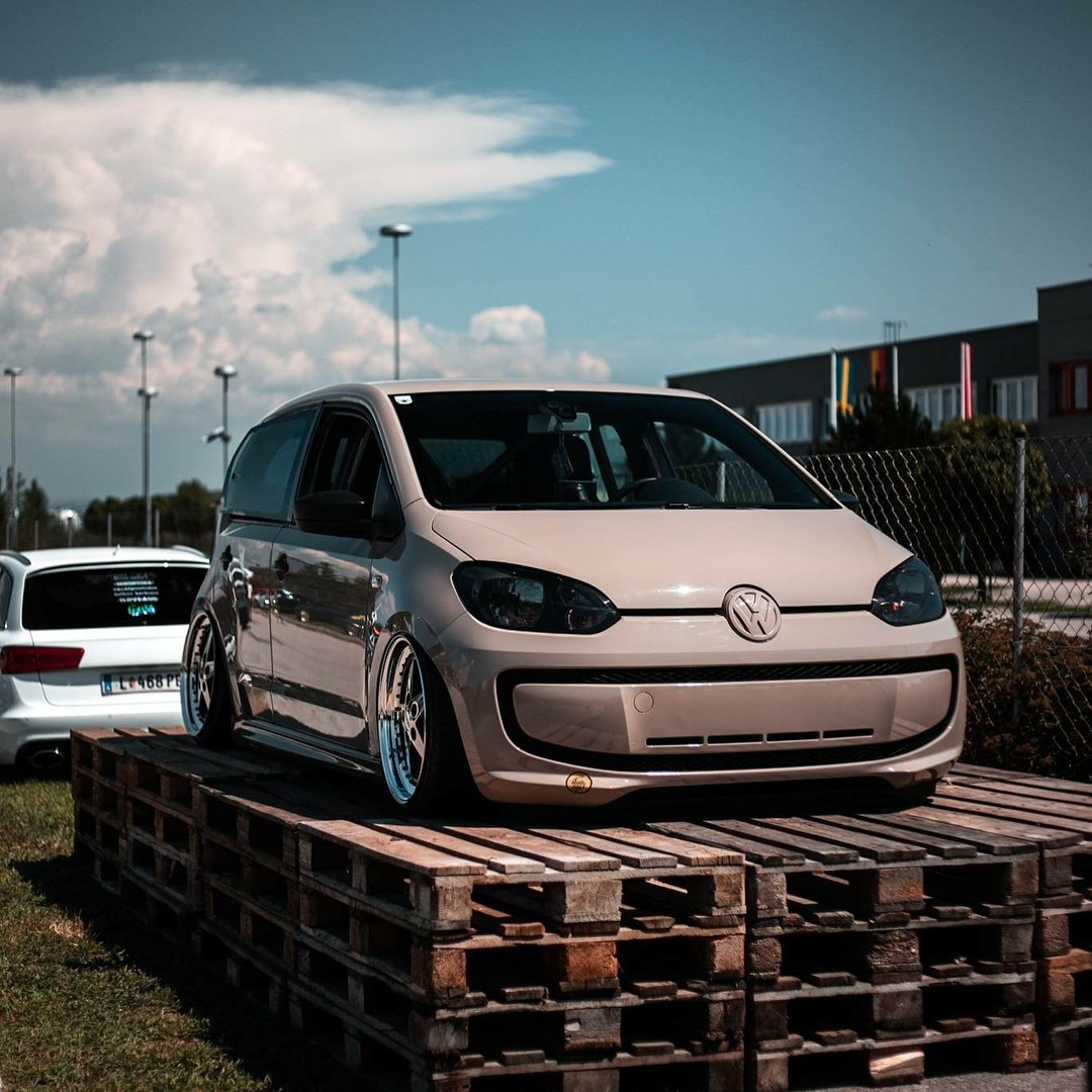 Creamy Volkswagen Up! Has VR6 Engine Swap, Looks Worthersee