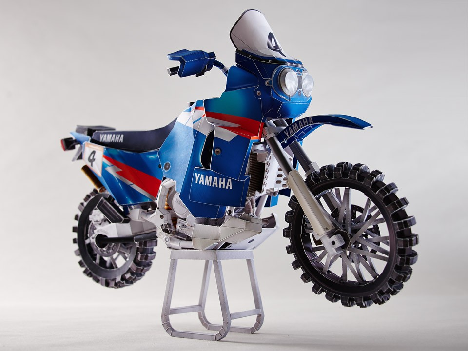 Create Your Own Dakar Scene with Yamaha's Mind-Boggling Papercraft Models - autoevolution