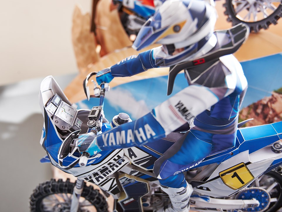 Create Your Own Dakar Scene With Yamaha S Mind Boggling Papercraft Models Autoevolution