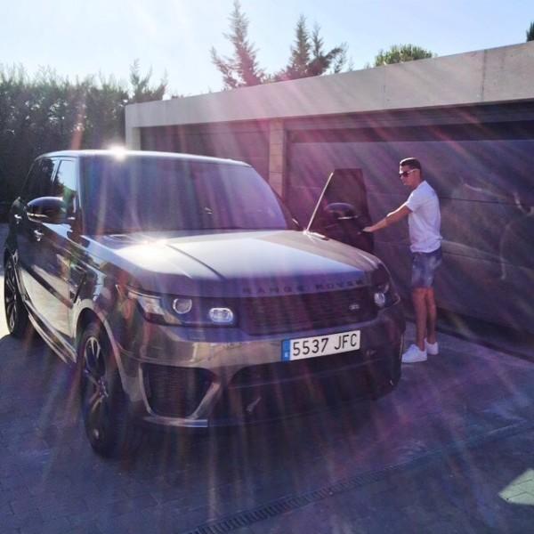 Resultado de imagen para Range Rover Sport SVR cristiano ronaldo