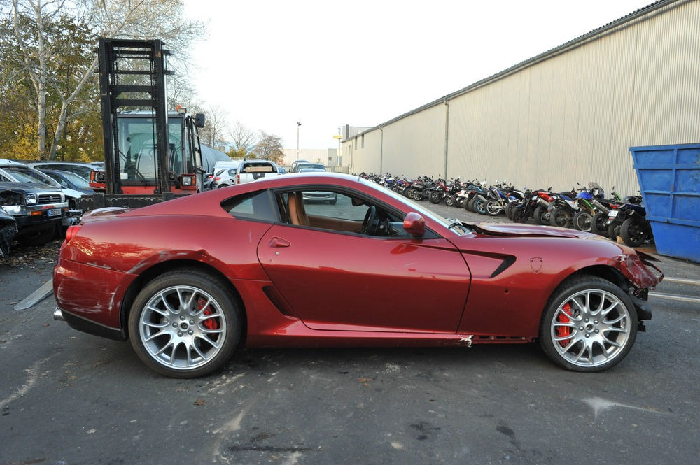 Cristiano Ronaldo's Crashed Ferrari 599 For Sale - autoevolution
