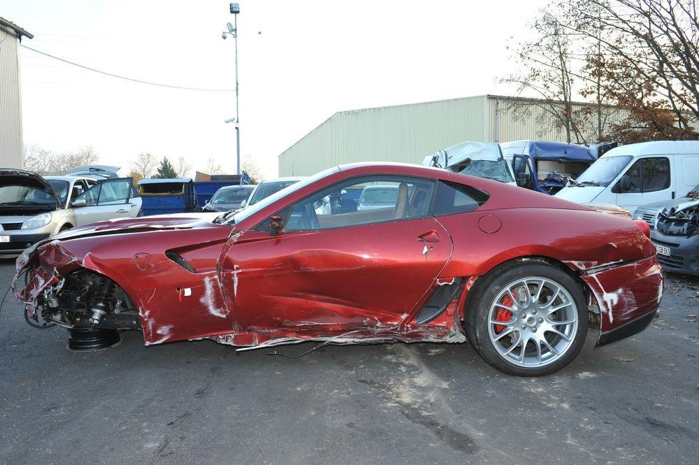 Cristiano Ronaldo S Crashed Ferrari 599 For Sale