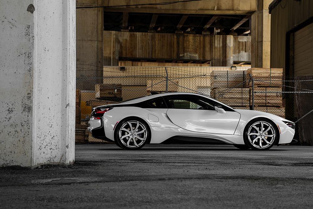 Crystal White Bmw I8 Gets Forgiato Wheels Turns Into