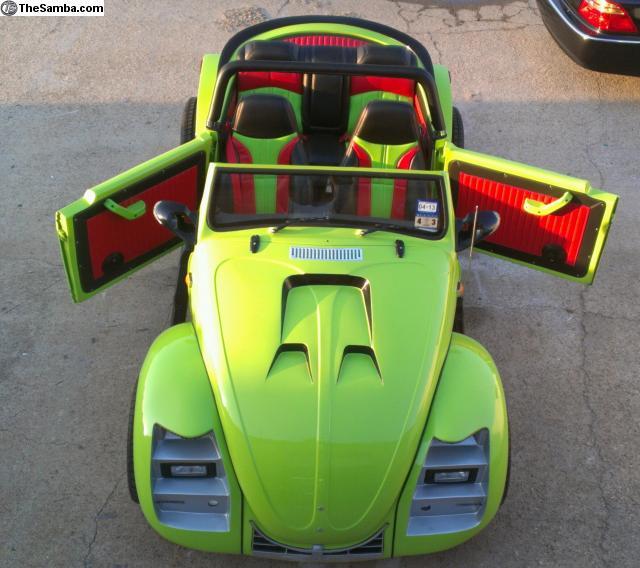 Custom 1970 Volkswagen Beetle Looks Like Kermit The Frog