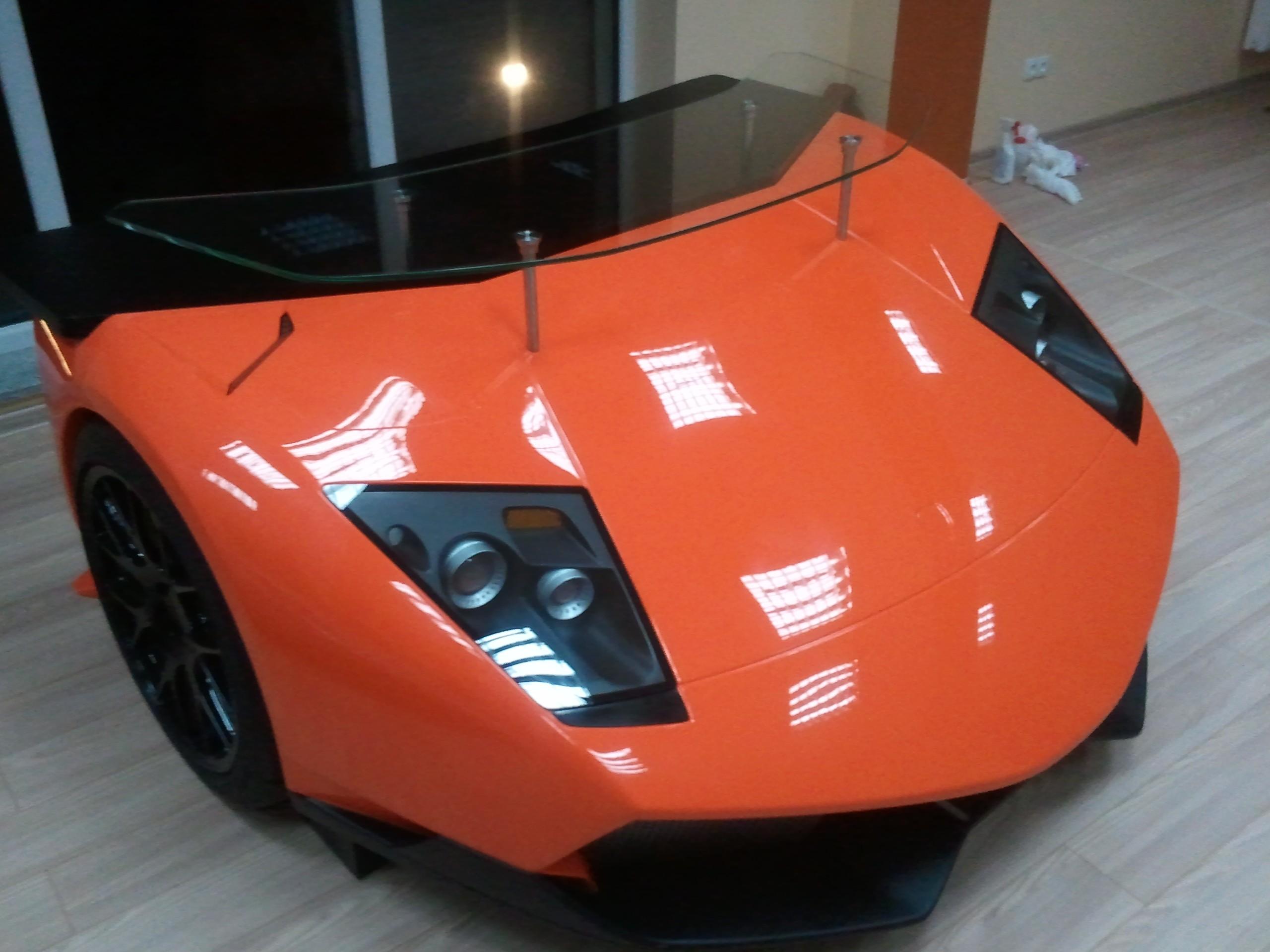 Car Desks Lamborghini Murcielago Turned Into Custom Desk Complete With