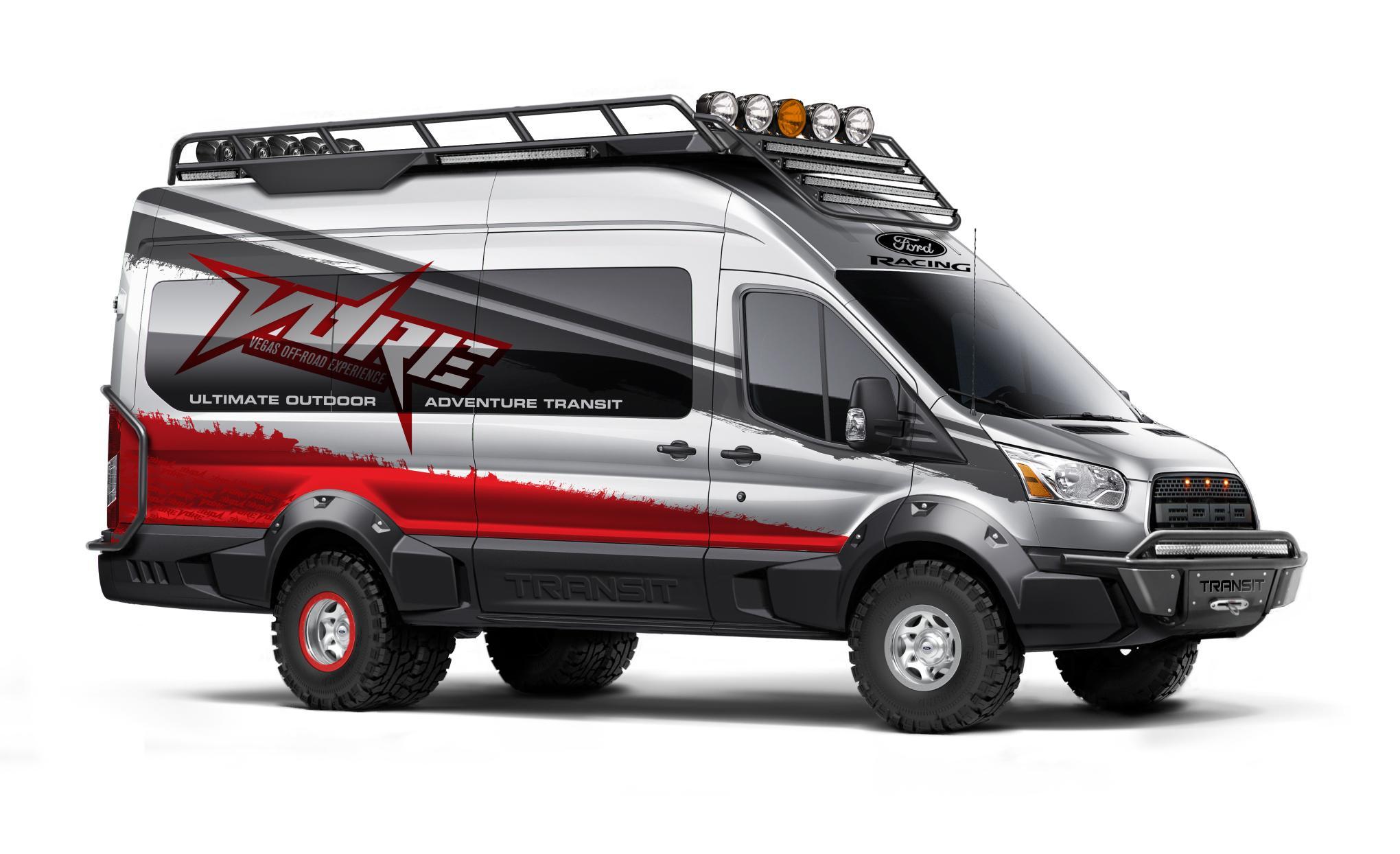 custom ford transit vans heading to sema autoevolution. Black Bedroom Furniture Sets. Home Design Ideas