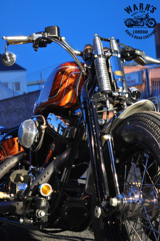 Custom Harley Davidson Crossbones Baptized Frisco Bobber
