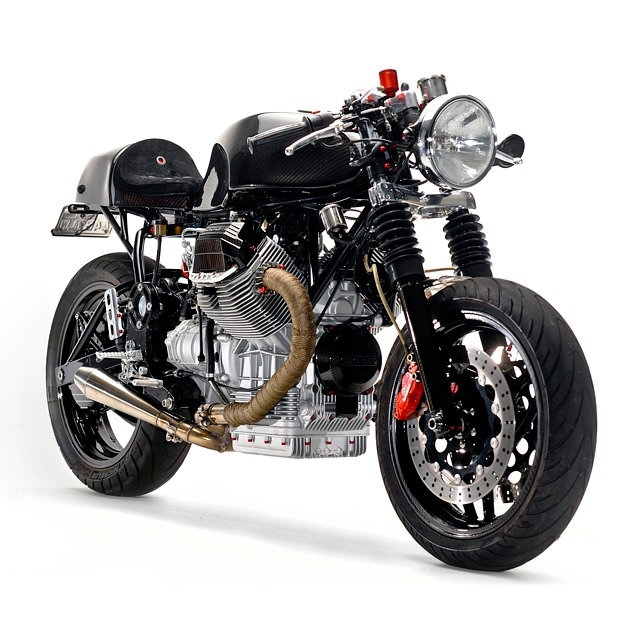 custom moto guzzi v1100 by santiago chopper autoevolution. Black Bedroom Furniture Sets. Home Design Ideas