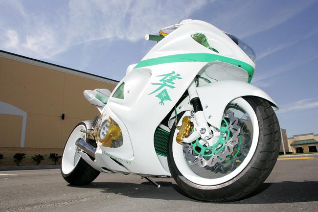 Custom Nick Anglada Hayabusa Floats On Invisible Wheels