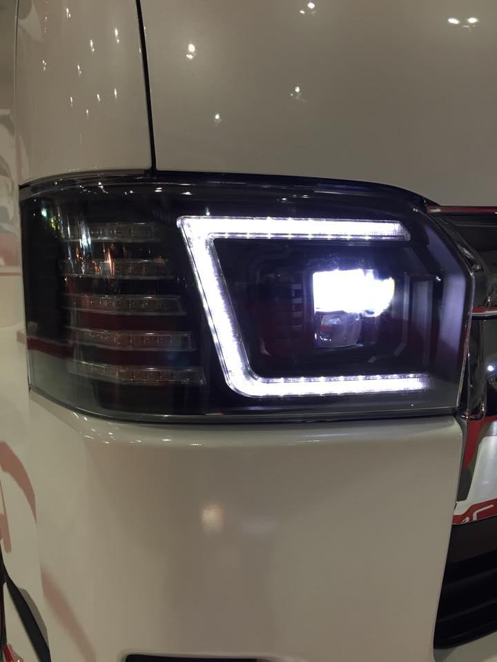 Custom Toyota Hiace Minivan Gets Full Led Headlights From