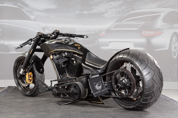 Porsche Custom Motorcycle: Custom-Wolf Tribute To Porsche