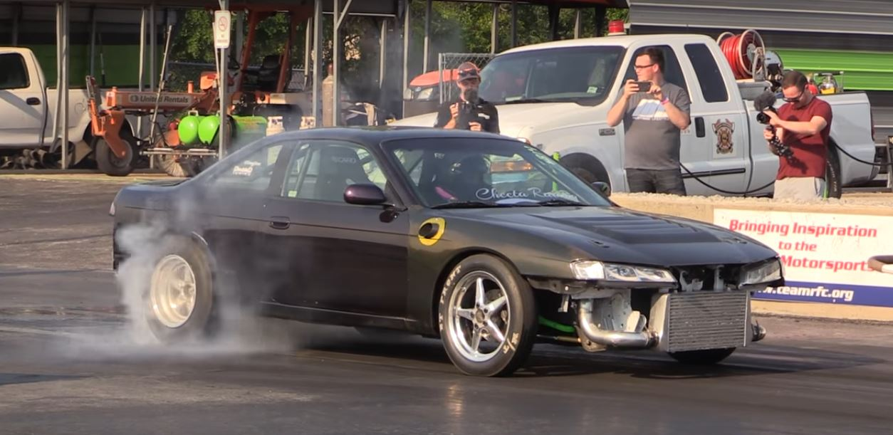 Cute Girl Pushes Her 600 Hp Nissan 240sx To 9s Quarter Mile With