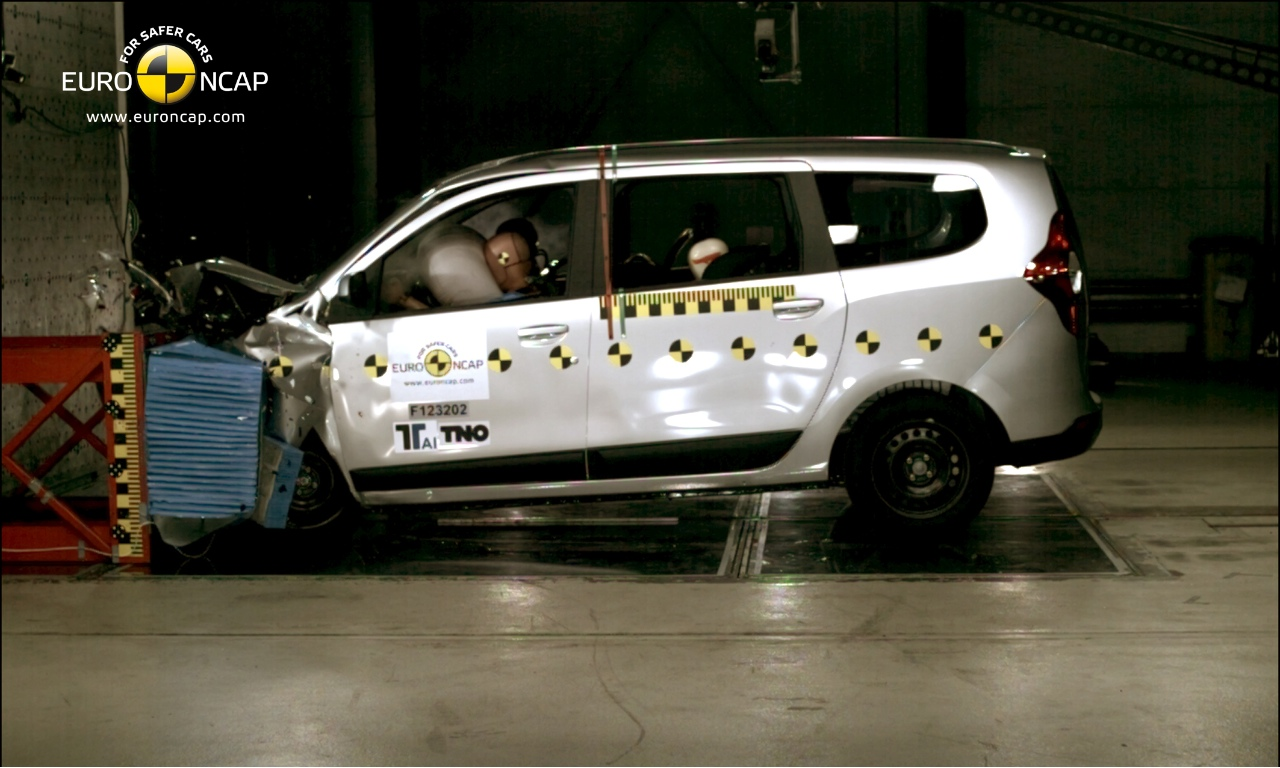 dacia lodgy achieves 3 star euro ncap rating autoevolution. Black Bedroom Furniture Sets. Home Design Ideas