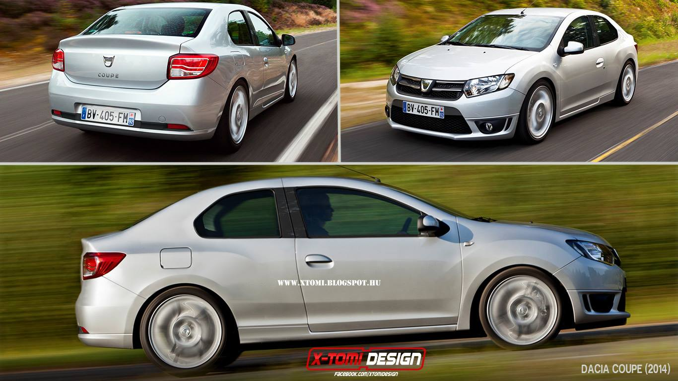 Dacia Logan Coupe Rendering Yes Please Autoevolution