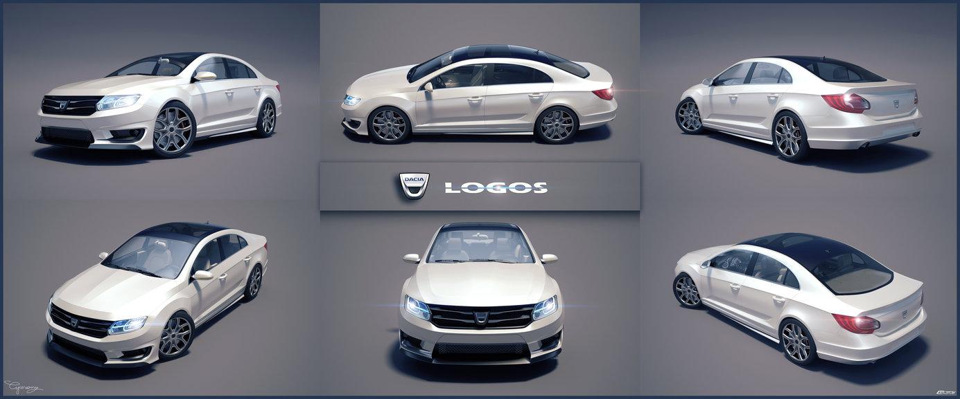 Dacia Logos A Futuristic Logan Concept With Passat Cc
